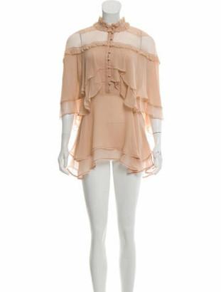 Jonathan Simkhai Silk Mini Shirt Dress w/ Tags Beige
