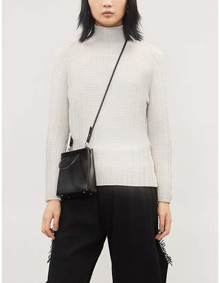 Issey Miyake Loose-fit geometric-pleated woven top