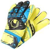 Uhlsport ELIMINATOR SUPERSOFT Goalkeeping gloves lite fluo gelb/schwarz/hydro blau