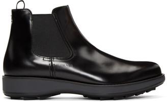 Prada Black Rois Chelsea Boots
