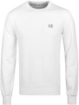 Cp Company Felpa White Jersey Sweatshirt