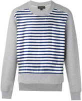 Burberry striped sweatshirt - men - Cotton/Polyester - S