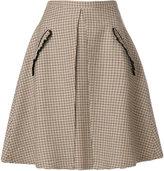 No.21 checked a-line skirt
