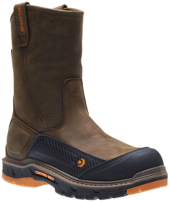 91324ef5c9c Mens Overpass Waterproof Slip Resistant Composite Toe Pull-on Work Boots