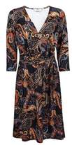Dorothy Perkins Womens **Tall Multi Coloured Paisley Print Wrap Dress