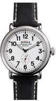 Shinola 'The Runwell' Leather Strap Watch, 41mm