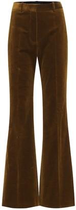 Victoria Beckham High-rise wide-leg velvet pants