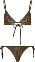 Marie France Van Damme Metallic Bikini Set