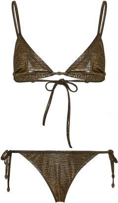 MARIE FRANCE VAN DAMME Metallic Bikini Set