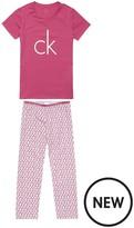 Calvin Klein Logo Print Pyjama Set