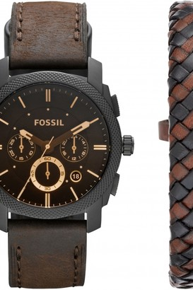 Fossil Mens Machine Gift Set Chronograph Watch FS5251SET