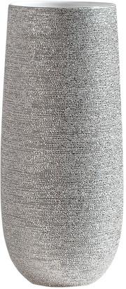 Torre & Tagus Brava Silver Spun Textured 14.5In Vase