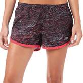 New Balance Womens Printed 3 Inch Running Shorts Black/Pink