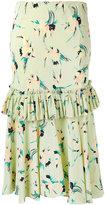 Marni gathered floral skirt - women - Silk - 40