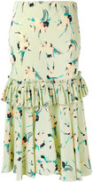 Marni gathered floral skirt - women - Silk - 42
