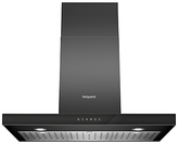 Hotpoint PHBS98CLTDK Built In Chimney Cooker Hood, Black