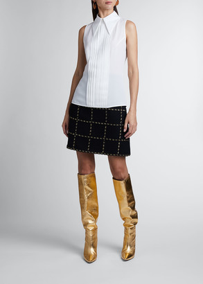 Andrew Gn Collared Sleeveless Blouse