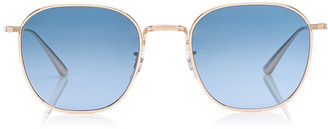 Oliver Peoples Board Meeting 2 Square-Frame Metal Sunglasses