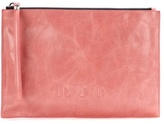McQ by Alexander McQueen Embossed Leather Clutch
