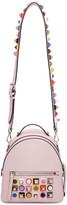 Fendi Pink Mini Studded Rainbow Messenger Backpack