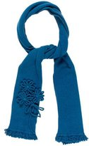 David Meister Knit Embellished Scarf