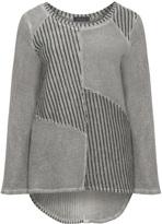 Kekoo Plus Size Cotton patchwork sweatshirt