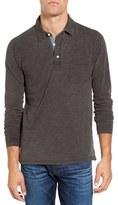 Faherty Regular Fit Long Sleeve Slub Jersey Polo
