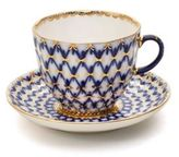 Imperial Porcelain Two-Piece 22K Gold Accented Porcelain Coffee Cup & Saucer Set