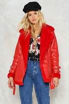 Nasty Gal nastygal Sooner or Aviator Moto Jacket