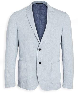 HUGO BOSS Dusty Blue Linen Blend Suit Jacket