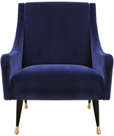 Duresta Carnaby Chair, Ebony and Gold Tipped Leg, Harrow Velvet Navy