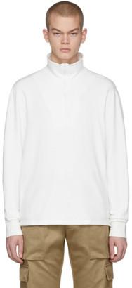 Barena White Calenda Zip-Up Sweater