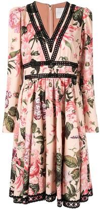 Ingie Paris Floral Flared Midi Dress