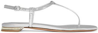 Nicholas Kirkwood Casati Faux Pearl-embellished Mirrored-leather Sandals