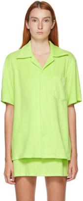 Gil Rodriguez SSENSE Exclusive Green Terry Bowling Shirt