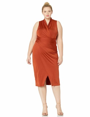 Rachel Roy Women's Plus Size Sleeveless Solid Bret Dress