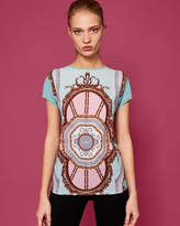 Ted Baker Versailles woven front Tshirt