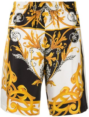 Versace Barocco Print Elastic Shorts