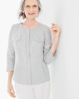 Chico's Foiled Linen Shine Jacket