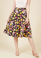 Hell Bunny Ain't That the Fruit? A-Line Skirt in Melon Mix in XL