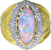 VICTOR VELYAN Black Opal And Diamond Ring