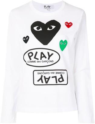 Comme des Garcons Logo Print Long Sleeve T-Shirt