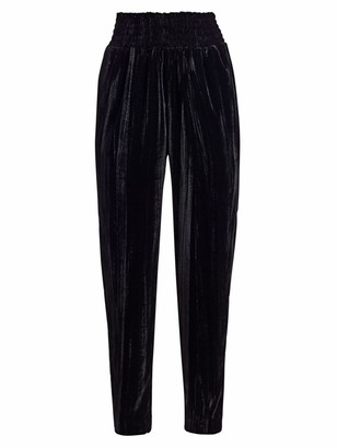 ML Monique Lhuillier Tapered Velvet Pants