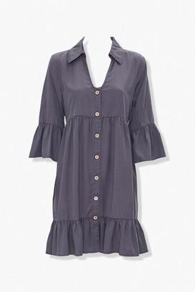Forever 21 Flounce-Trim Mini Dress