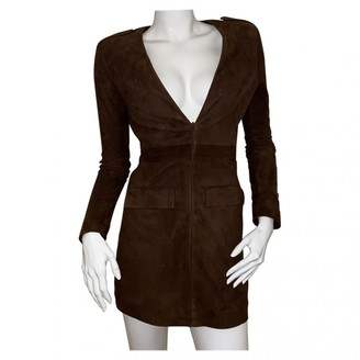 Jitrois Brown Suede Dress for Women