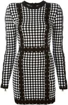 Balmain checked knit dress - women - Viscose - 40