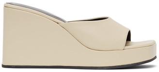 Simon Miller Off-White Level Wedge Sandals