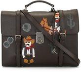 Dolce & Gabbana Cowboy patch briefcase