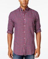John Ashford Men's Long-Sleeve Plaid Shirt, Only at Macy's