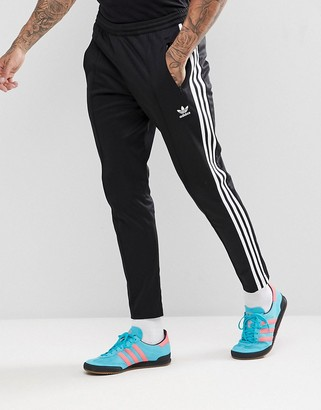 adidas adicolor beckenbauer joggers in skinny fit in black cw1269